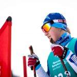 Mandy Bauer beim Skilanglauf 5km klassisch auf der Höhenloipe Scharitzkehl. Foto: SOD/Sarah Rauch
