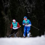 Melanie Göpfert und Mandy Bauer beim Skilanglauf 5km klassisch auf der Höheloipe Scharitzkehl. Foto: SOD/Sarah Rauch