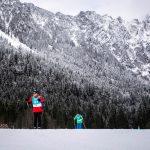 Philipp Hofmann (227) gefolgt von Daniel Hetz (1) beim Skilanglauf 2,5km klassisch auf der Höhenloipe Scharitzkehl. Foto: SOD/Sarah Rauch